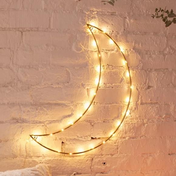 Urban Outfitters Geo Moon Light Sculpture